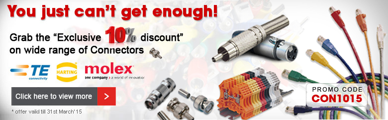 Flat 10% Off on Connectors